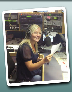 Rebecca Pukiello in the Newsbeat studio